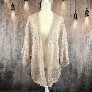 Topshop Loose Knit Cardigan Sweater size 12 NWOT